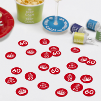 Keep Calm You're Only 60 Table Confetti (14g)